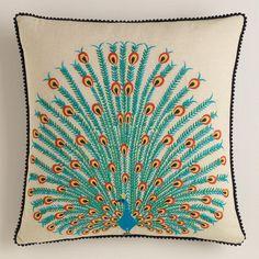 Peacock Throw  Pillow - World Market