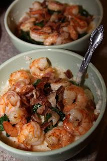 Shrimp and Grits and Greens