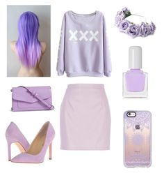 """Lilac Outfit"" by dancenola ❤ liked on Polyvore featuring LOTTA, Casetify, River Island, Vera Bradley, Ivanka Trump and tenoverten"