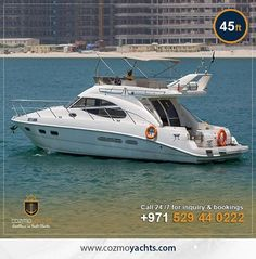 Hot Summer Offer on Luxury Yachts in Dubai.  Charter 45 Feet Yacht For 3 Hours and Get 1 Hour Free. Offer valid till 1st Sep 2017. For Booking +971 529440222 https://cozmoyachts.com/yachts/rent-45-feet-british-sealine-yacht #summer #deal #dubai #dubaimarina #yachtcharter #exclusive
