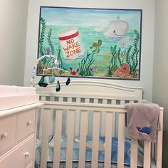 We even have a dedicated nursery space for your baby with a crib and changing table.   Your baby will love this custom mural painted with baby sea animals that fit right into our ocean theme.  Our oceanfront penthouse condo sleeps 16 plus your baby.  We also provide a pack-n-play and a highchair in the condo.  It's a condo designed for families. Pack N Play, Condo Design, North Myrtle Beach, Ocean Themes, Cribs, Families, Nursery, Sleep, Space