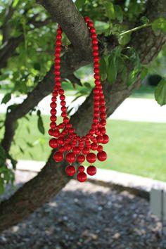Dottie Couture Boutique - Bib Necklace- Red, $16.00 (http://www.dottiecouture.com/bib-necklace-red/)