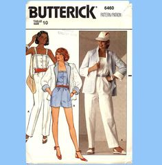 253 Butterick 6460 Womens Jumpsuit Romper by ladydiamond46 on Etsy
