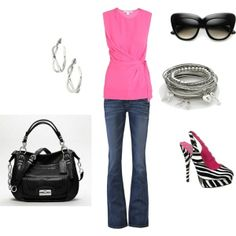 pink zebra outfit