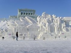 Ice sculptures in Harbin, China
