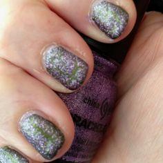 China Glaze- Luminous Lavender Crackle over Agro