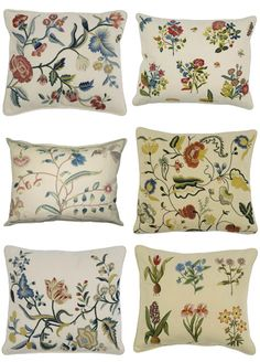 Embroidered Fabric, Needlepoint Pillows And Gustavian Furniture From Chelsea Textiles Chelsea Textiles, Scandinavian Folk Art, Embroidered Pillowcases, Needlepoint Pillows, Cozy Cottage, Fantastic Art, Textile Patterns, Botanical Prints, Soft Furnishings