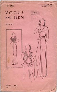 Vogue #6483 Pyjama