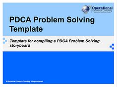 PDCA Problem Solving Template