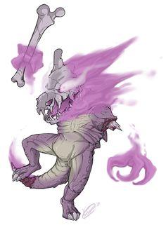 Pokemon Fusion - Hauntbone (Haunter + Cubone)