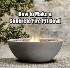 How to Make a Concrete Fire Pit Bowl,diy,how to,homesteading,garden,gardening,frugal,summer,