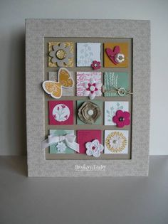 Stampin Up: Pocket Silhouettes. This would make a nice frame collage.