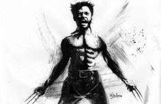 prints on metal Movies & TV xmen wolverine cool painting classic bw watercolor
