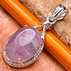 Checkout this amazing deal Genuine Amethyst Pendant with 925 Silver Chain,$10