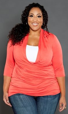 Love the color!! Plus Size Clothing | Women`s Apparel | Curvy Fashion at www.curvaliciousclothes.com