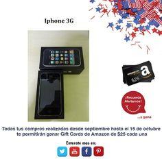 ¿Quieren estar siempre a la moda y con un teléfono de gran calidad? Iphone 3G.  http://amzn.com/B004ZLV50E