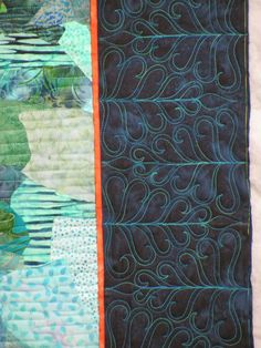 Border quilting by Jan Hutchison   The Secret Life of Mrs. Meatloaf - Trudy's flamingo quilt