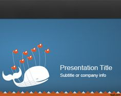This is a free Twitter background for PowerPoint presentations with the original blue color used in Twitter