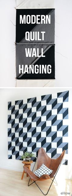 Add instant warmth and art with a quilt wall hanging! This DIY may look expensive and difficult to replicate, but it's actually SO EASY and can be done by a beginner or expert all the same.