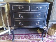 Opulent Small Bedroom Chest Of Drawers Hand-painted By Charlotte Dee Designs