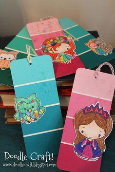 Doodlecraft: Paintchip Bookmarks!