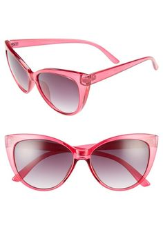 46a836b015 A.J. Morgan Spicy 53mm Cat Eye Sunglasses available at  Nordstrom Pink  Sunglasses