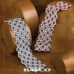 Sapphires or rubies...which is your favorite previous gemstone? Two exceptional bracelets that beautifully showcase the oval shape gemstones. ❤️ #bayco #baycojewels