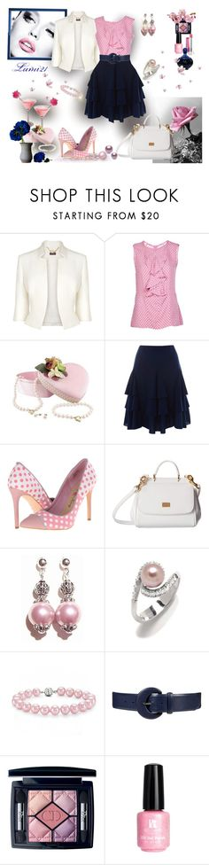"""""""Untitled #1693"""" by lumi-21 ❤ liked on Polyvore featuring Phase Eight, Marni, Lauren Ralph Lauren, Penny Loves Kenny, Dolce&Gabbana, CO, Bling Jewelry, Christian Dior, Red Carpet Manicure and Pink"""