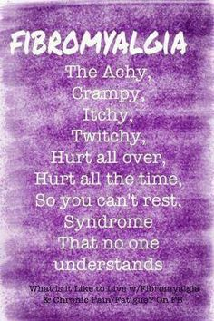 Fibromyalgia symptoms list