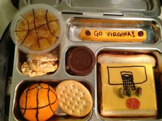 Basketball lunch - so easy and fun to make with kids!   #DRMunchMadness #shop