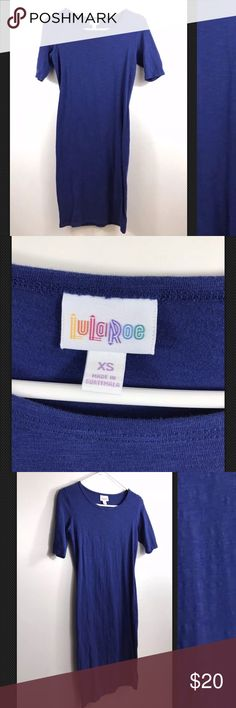 """LULAROE ROYAL BLUE SOLID JULIA Dress UNICORN Rare LULAROE ROYAL BLUE SOLID JULIA Dress   RARE SOLID!   Excellent condition! No flaws, tears or marks.   SIZE: XS  Pit to pit: 16""""  Length: 36""""  Thanks for checking out my Closet! LuLaRoe Dresses Midi"""