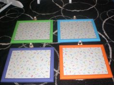 My dry-erase picture frames for my room