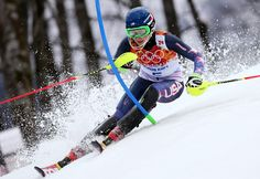 Mikaela Shiffrin during run one in Sochi (GEPA/Mario Kneisl)
