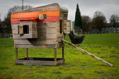 Time to give it back to nature... Designer John Wright's Modern Coop is a Stylish Hen House Made from Recycled Wood   Inhabitat - Sustainable Design Innovation, Eco Architecture, Green Building