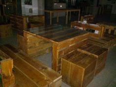 Fork lift pellet furniture