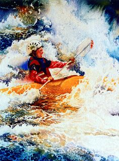 The Kayak Racer 19 Painting