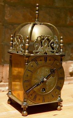 English lantern clock time piece 1900