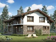 House Made, My House, 2 Storey House, Cute Cottage, Stone Houses, Style At Home, Windows And Doors, Modern Rustic, My Dream Home