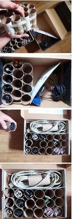 Cable, cords, etc., organization-I will be able to see all the cords in my electronics storage. Just need to see if I should label. I usually label each with masking tape folded together what it goes to.