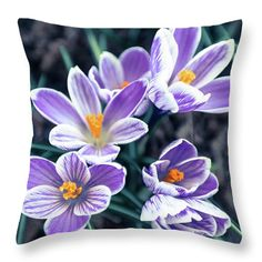 #AnnaMatveeva #Photographers #FineArtAmerica #FineArtPrints #ForSale #Artdecor #Decor #Homedecor #Purple #Flowers #Glade #Crocuses #Nature #Pillow http://anna-matveeva.pixels.com