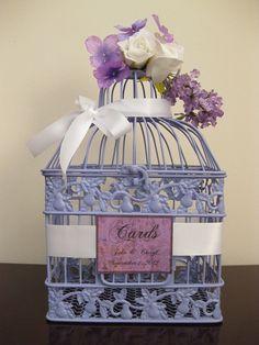 Lavender Bird Cage Wedding Card Holder / by SouthburyTreasures, $45.00