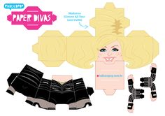 Madonna Paper Toy - Gimme all your loving 3d Paper Crafts, Paper Toys, Paper Art, Madonna, Paper Divas, People Art, Toy Boxes, Game Character, Clip Art