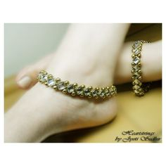 Golden Kundan Anklet - Online Shopping for Anklets by Heartstrings by Jyoti Sudhir