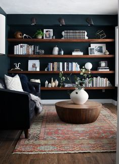 Home Interior Bohemian Reading Room Sources - Chris Loves Julia.Home Interior Bohemian Reading Room Sources - Chris Loves Julia Living Room Remodel, Home Living Room, Living Room Designs, Living Room Furniture, Living Room Decor, Apartment Living, Living Room Bookshelves, Office Bookshelves, Dark Living Rooms