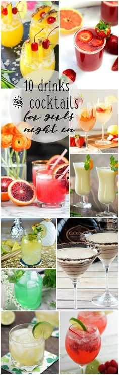 Cheers to you and connecting with your girlfriends! Here's 10 Drinks and Cocktails for Girls Night In. There's something for everyone here.