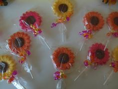 sunflower chocolate lollipop
