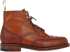 Grenson Perforated Wingtip Boots on shopstyle.com