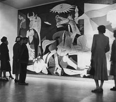"""Guernica--Picasso's painting in response of the German and Italian bombing of Guernica, Spain at the request of the Spanish Nationalist forces during the Spanish Civil War.  While living in Nazi-occupied Paris during WWII Picasso was repeatedly harassed by the Gestapo.  Upon seeing a photo of the painting in Picasso's apartment a Nazi officer asked """"Did you do this?"""" Picasso replied """"No, you did."""""""