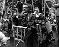 """opticalallurebyfeiwang: """"Peter Sellers and Blake Edwards at Pink Panther set, 1964 """" The Hollywood Reporter, Hollywood Actor, Classic Hollywood, Blake Edwards, New Movies, Movies And Tv Shows, Panthères Roses, Actors Funny, Shot In The Dark"""