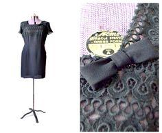 1950s dress black 50s dress vintage dress plus size large
